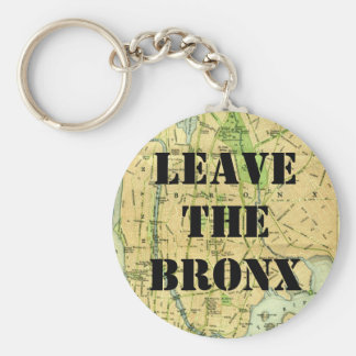 LEAVE THE BRONX! BASIC ROUND BUTTON KEY RING