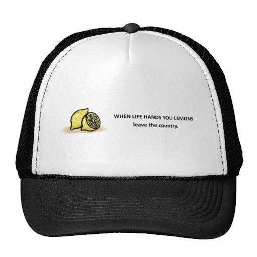 leave-the-country trucker hat