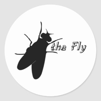 Leave the Fly Alone Round Sticker
