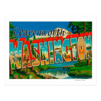Leavenworth, Washington - Large Letter Scenes Postcard