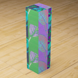 Leaves abstract wine box