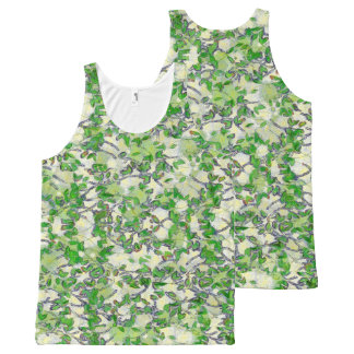 Leaves All-Over Print Tank Top