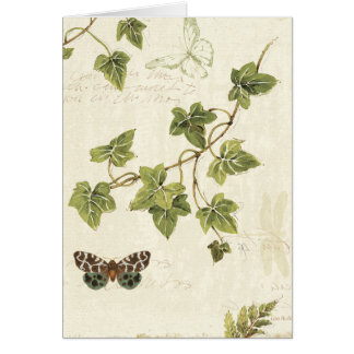 Leaves and a Butterfly Greeting Card