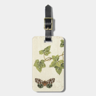 Leaves and a Butterfly Luggage Tag