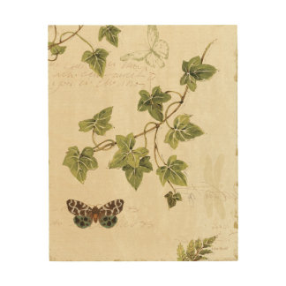 Leaves and a Butterfly Wood Wall Decor