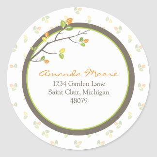 Leaves and Branches Address Label/Favor Sticker