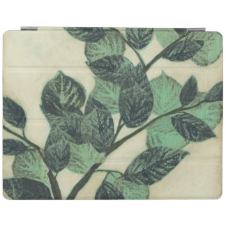 Leaves and Branches on Cream Background iPad Cover