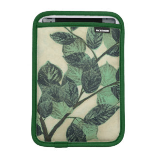 Leaves and Branches on Cream Background iPad Mini Sleeve