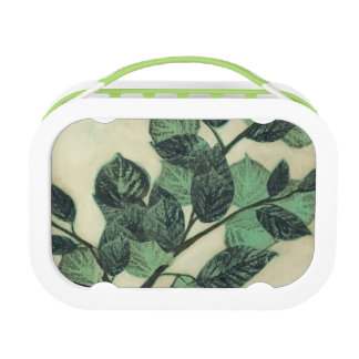 Leaves and Branches on Cream Background Lunch Box