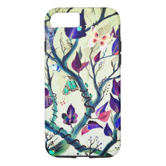 Leaves and butterflies painting iPhone 8/7 case