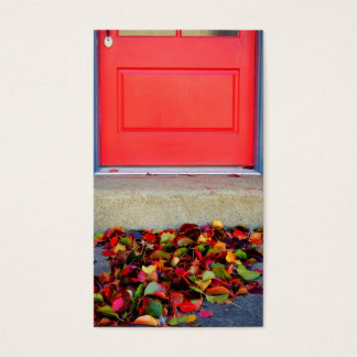 Leaves and Door Business Card.