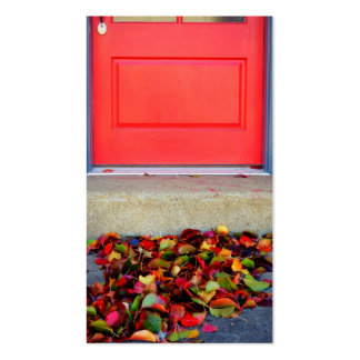 Leaves and Door Business Card. Pack Of Standard Business Cards