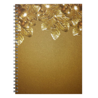 Leaves and Fruits Decorative Background Spiral Notebook