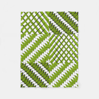 Leaves and Grass Baby Fleece Blanket