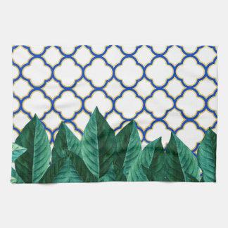 Leaves and Tiles Tea Towel