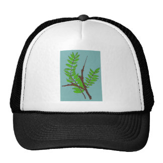 Leaves and Twigs Mesh Hats