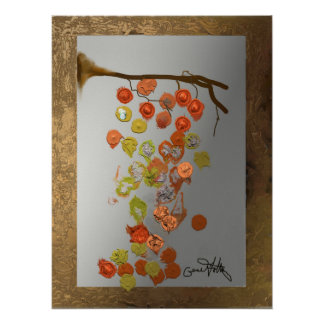 Leaves - Autumn Leaves Abstract Design Poster