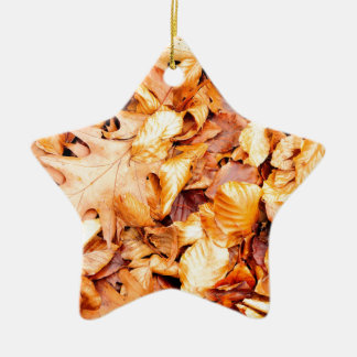 Leaves background christmas ornament