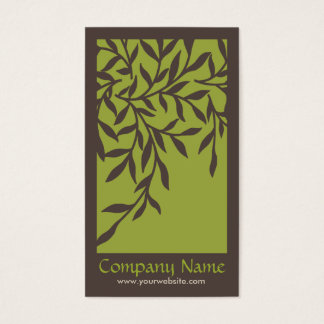 Leaves Business Card (Green)