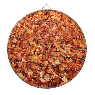 Leaves carpet in autumn dartboard