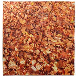 Leaves carpet in autumn napkin