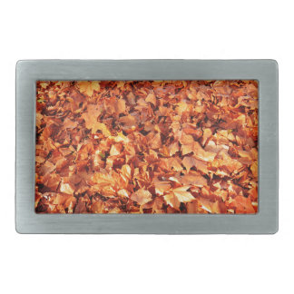Leaves carpet in autumn rectangular belt buckle