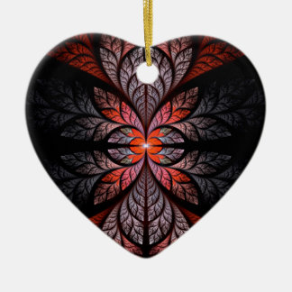 Leaves Ceramic Heart Decoration