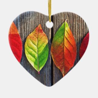 Leaves Ceramic Heart Decoration