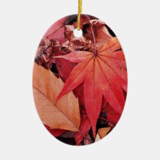 Leaves Ceramic Oval Decoration