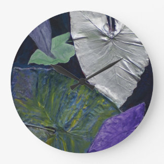 Leaves Collage Clock