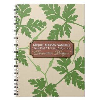 Leaves Decorative Cream Designer Modern Notebook