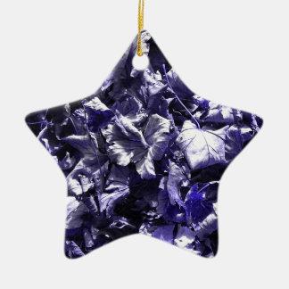 Leaves - Denim Blue Christmas Ornament