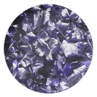 Leaves - Denim Blue Dinner Plates