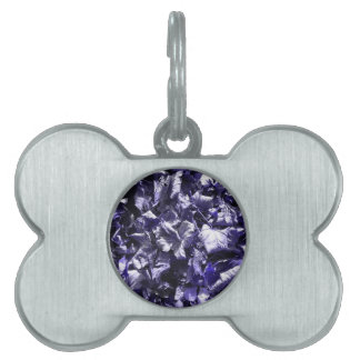 Leaves - Denim Blue Pet ID Tag