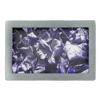 Leaves - Denim Blue Rectangular Belt Buckle