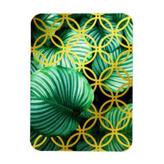 Leaves Geometric Tropical Modern Illustration Magnet