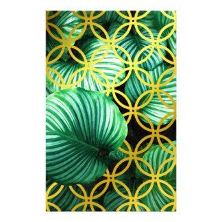 Leaves Geometric Tropical Modern Illustration Stationery