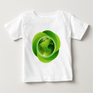 Leaves Globe Circle Concept Baby T-Shirt