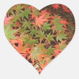 Leaves Heart Sticker
