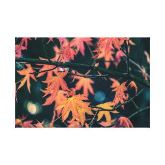 Leaves in Autumn : Melancholic Mood Canvas Print