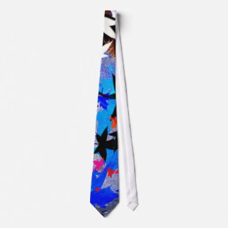 Leaves in moonlight tie