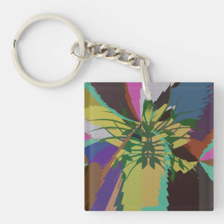 Leaves in Nature Organic Colors Key Ring