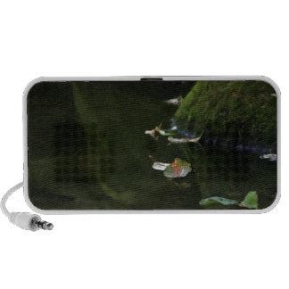Leaves in River Pool Artwork Travel Speakers