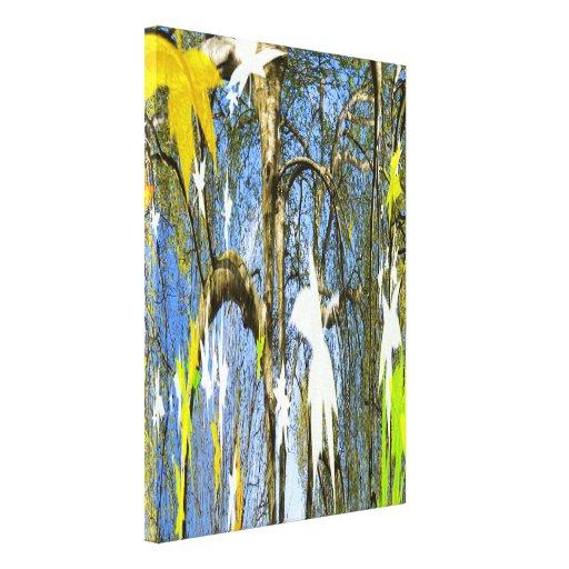 Leaves in seasons canvas prints