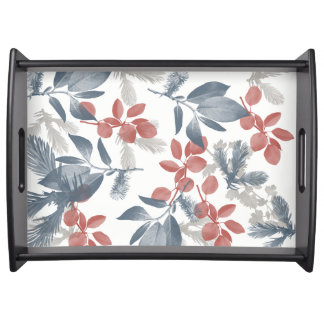 LEAVES Large Serving Tray, Black Serving Tray