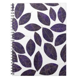 leaves notebok notebooks