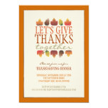 Leaves of Autumn ThanksGiving Dinner Invitation