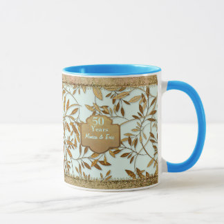 Leaves of Gold 50th Wedding Anniversary Mug