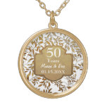 Leaves of Gold 50th Wedding Anniversary Necklaces