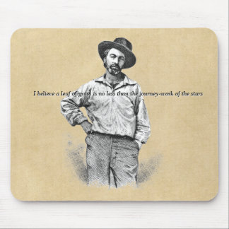 ❝Leaves of Grass❞ Walt Whitman Quotation Mouse Pad